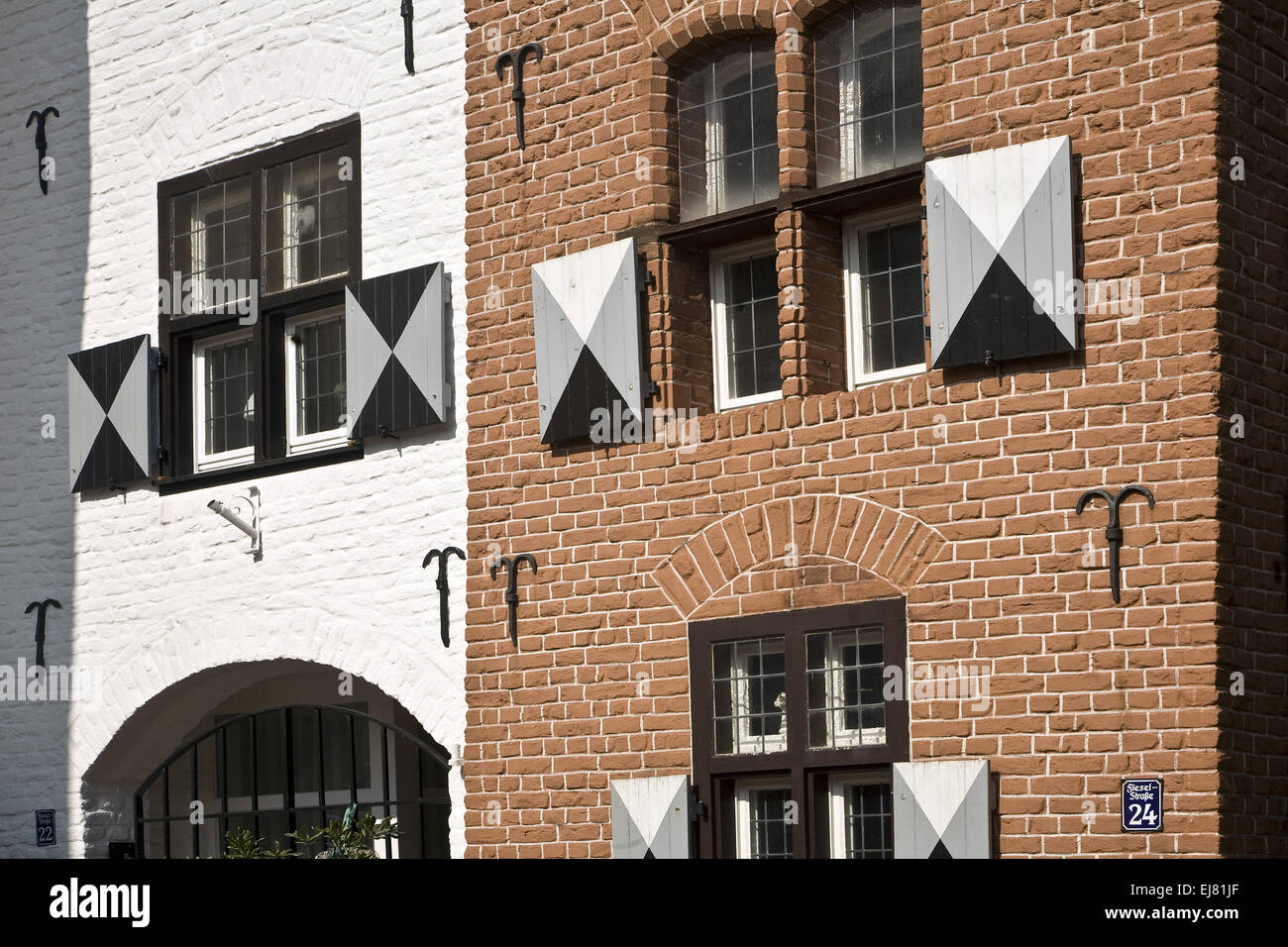 Detail House, Moers, Germany Stock Photo