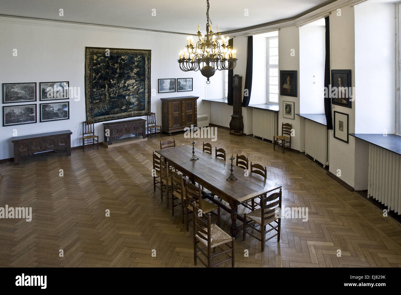Museum Castle Moers, Germany - Stock Image