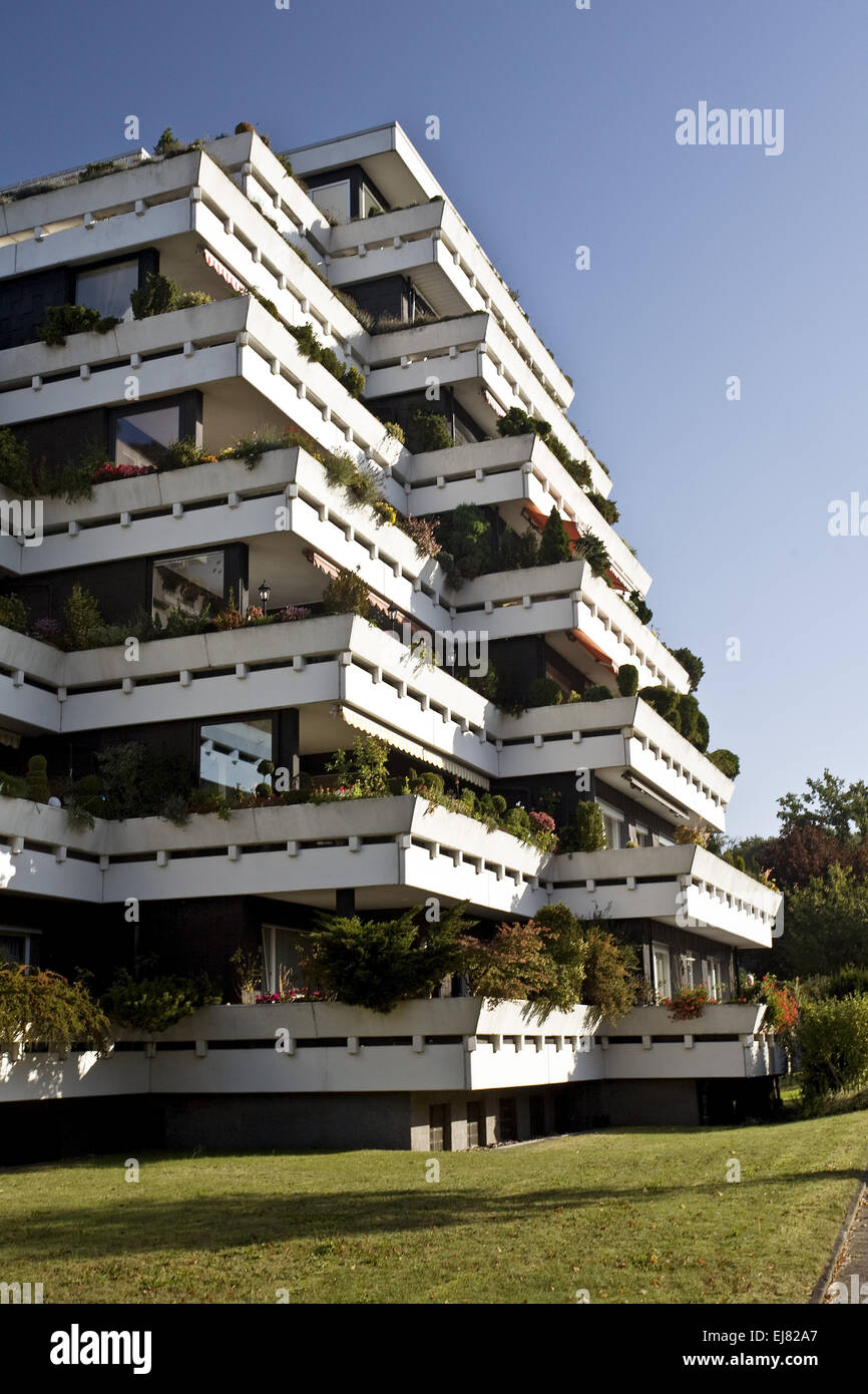 Terrace House, Schermbeck, Germany - Stock Image