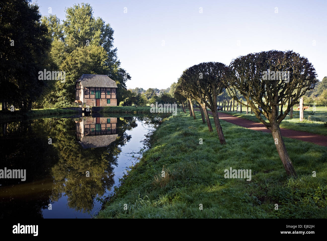 Watermill, Schermbeck, Germany - Stock Image