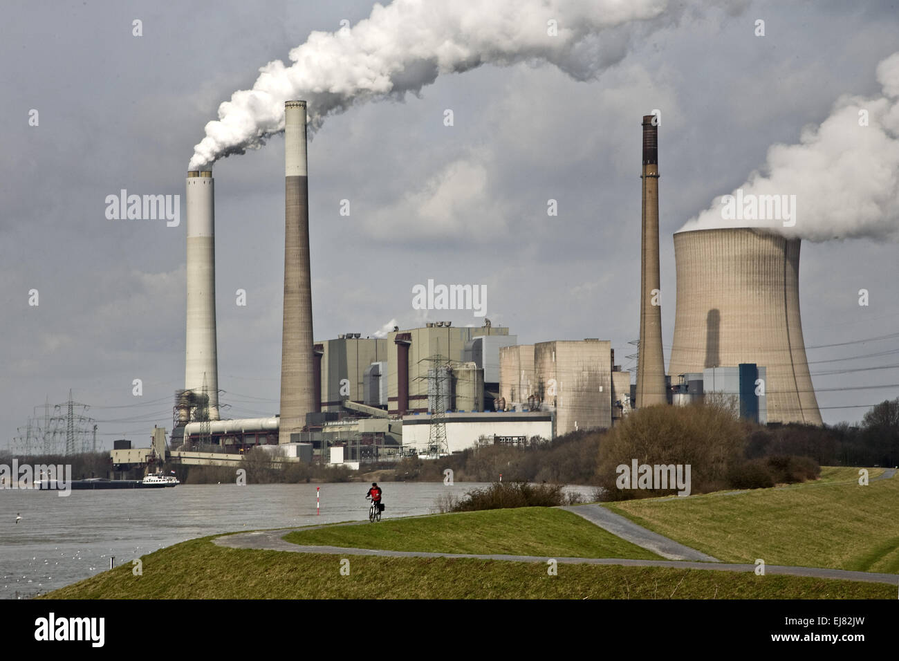 Coal-fired power plant, Voerde, Germany - Stock Image