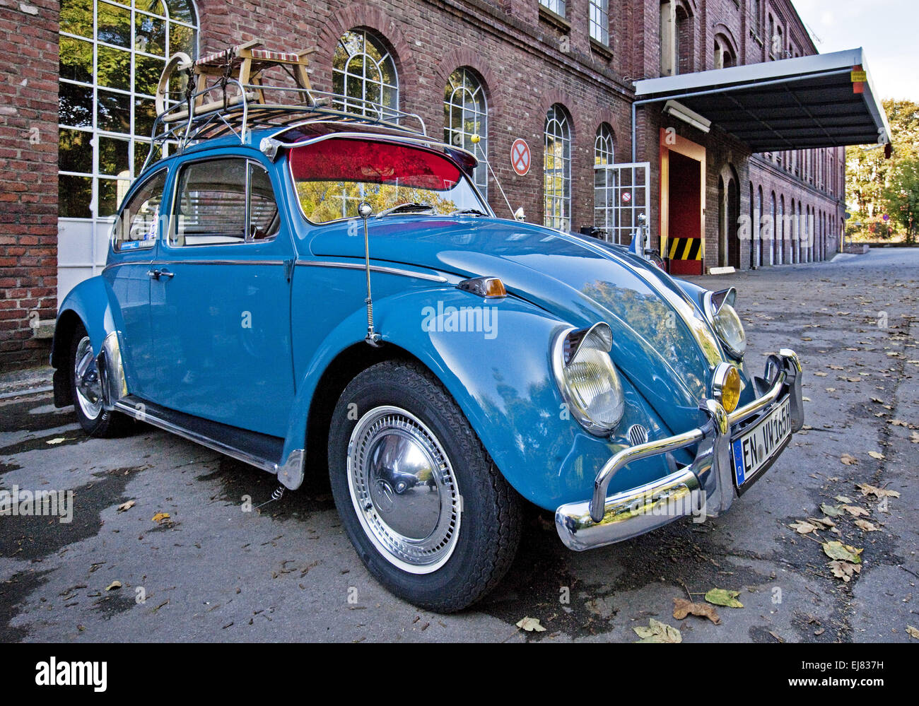 Classic car Volkswagen Beetle, Germany - Stock Image