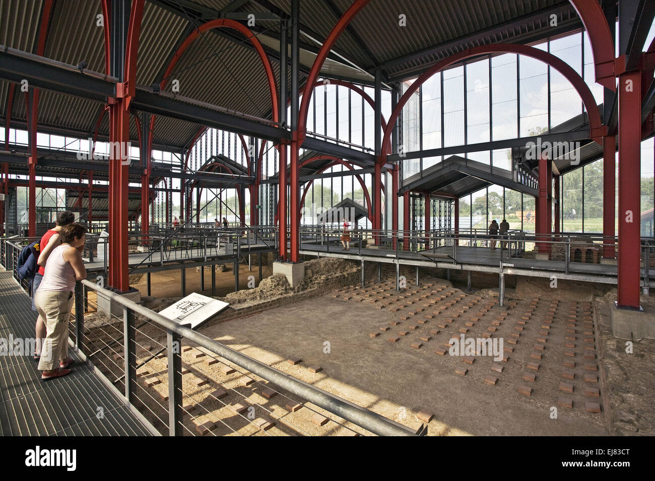 Archaeological Park Xanten APX, Germany - Stock Image