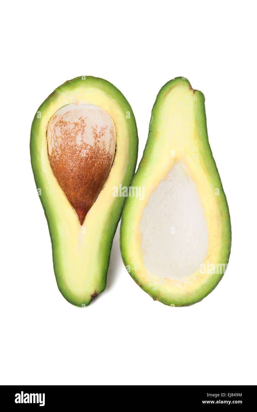Green avocado with nucleus - Stock Image
