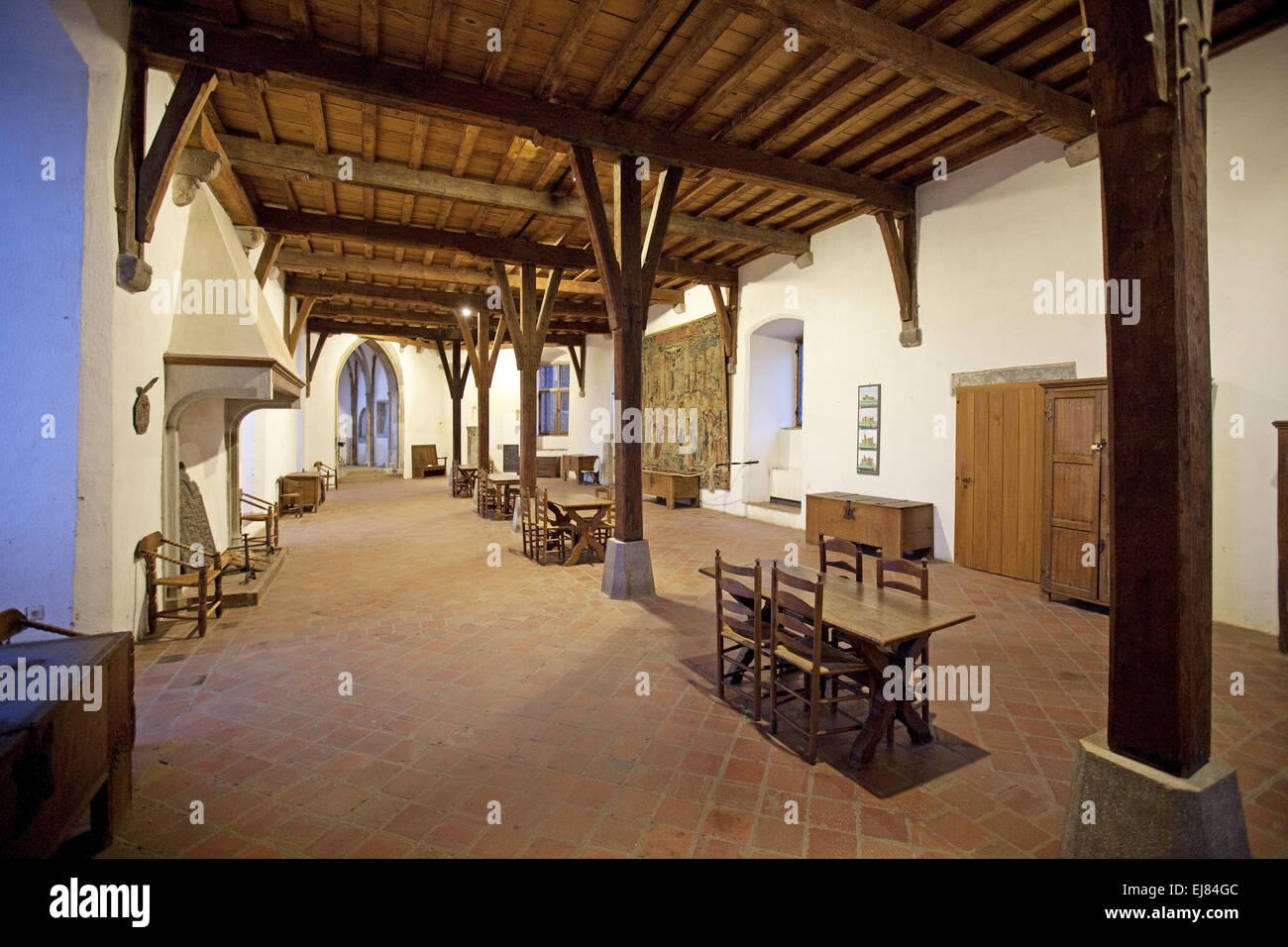 Castle Museum Linn, Krefeld, Germany - Stock Image