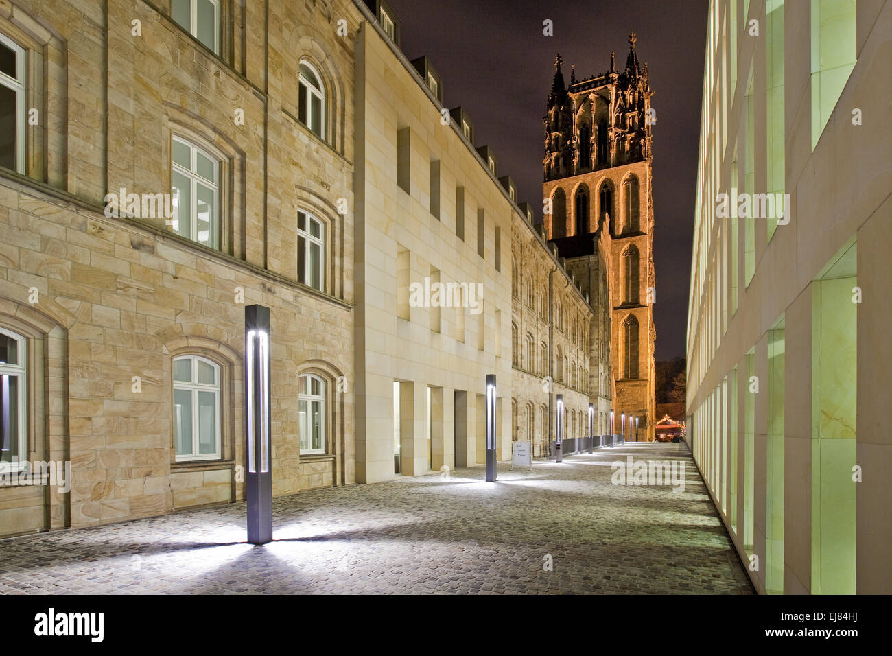 New and old architecture, Muenster, Germany - Stock Image
