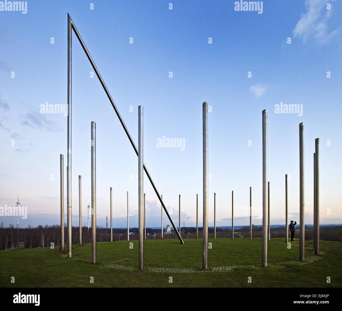 Sundial, Schwerin tip, Castrop-Rauxel, Germany - Stock Image
