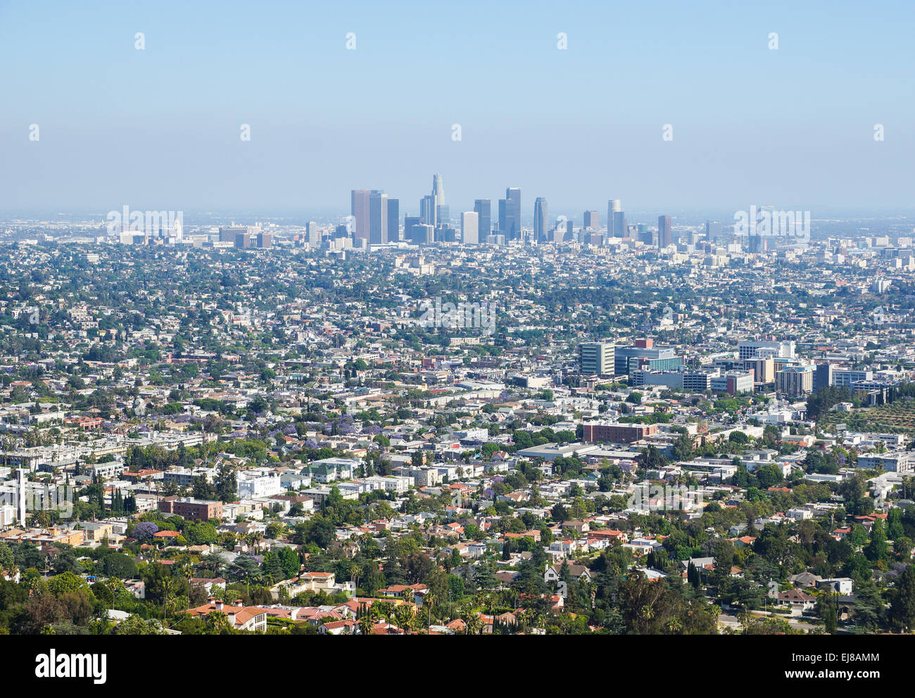 View over L.A. - Stock Image