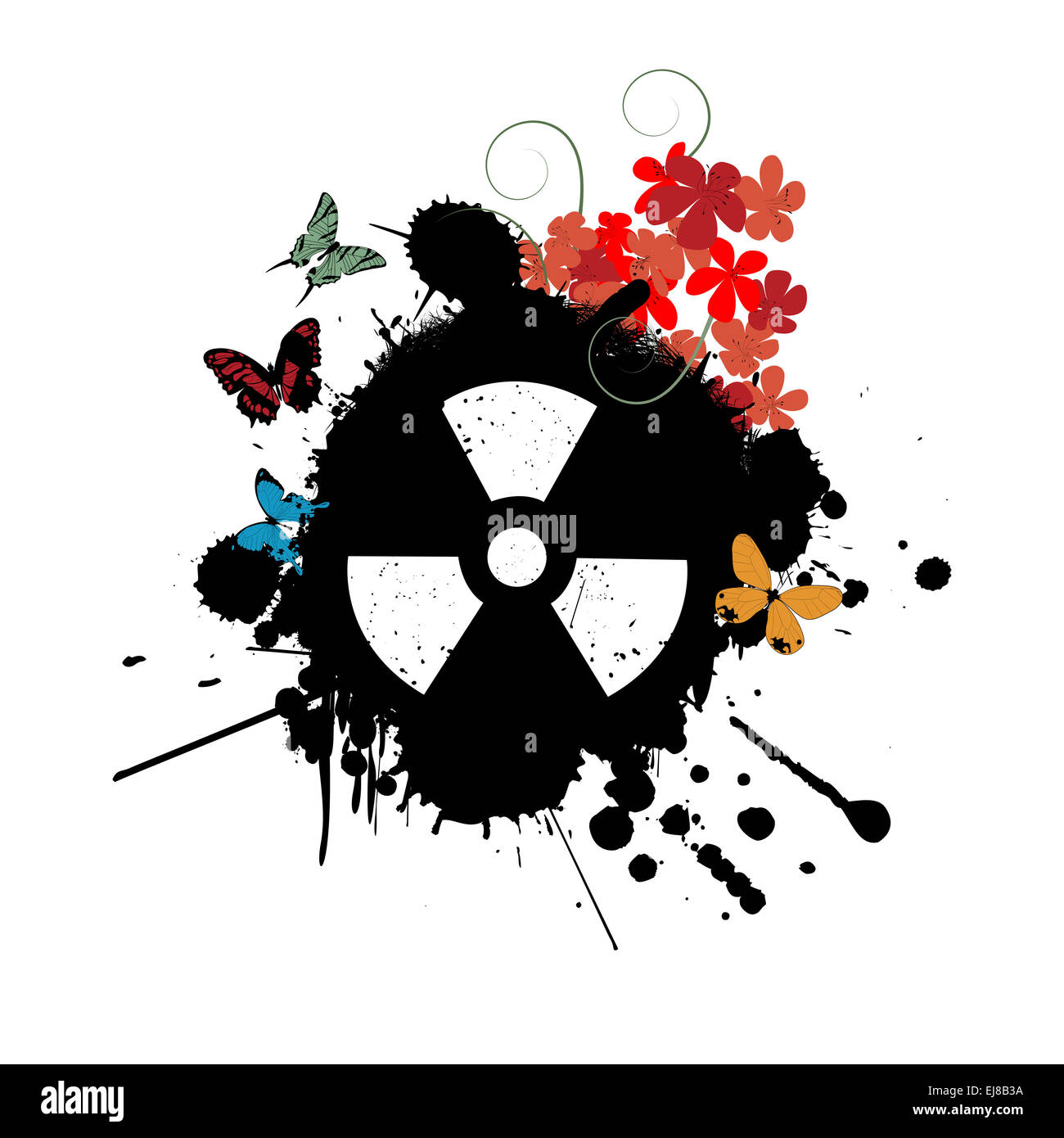Nuclear abstract - Stock Image