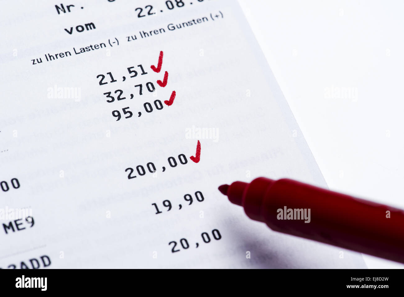 Balance of account activity Stock Photo