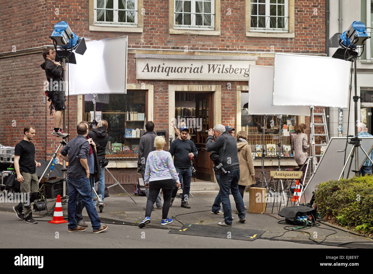 Shooting for a film, Muenster, Germany - Stock Image
