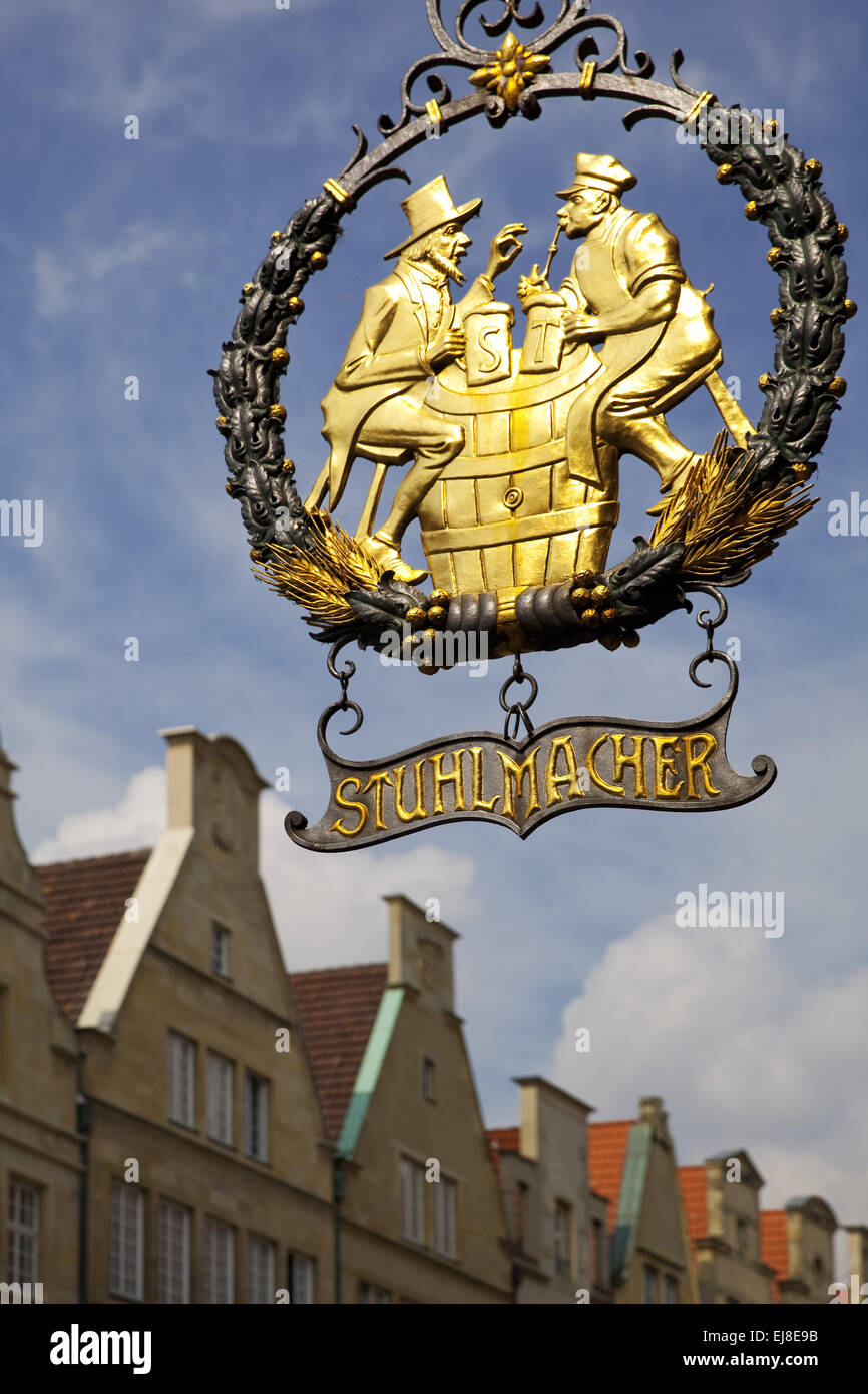 Sign chairmaker, Muenster, Germany Stock Photo