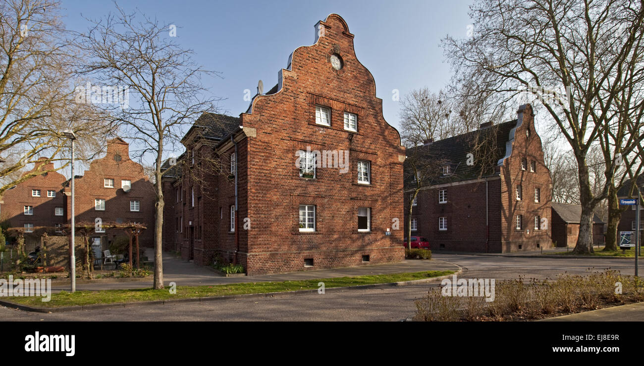 Housing Settlement, Neukirchen-Vluyn, Germany - Stock Image