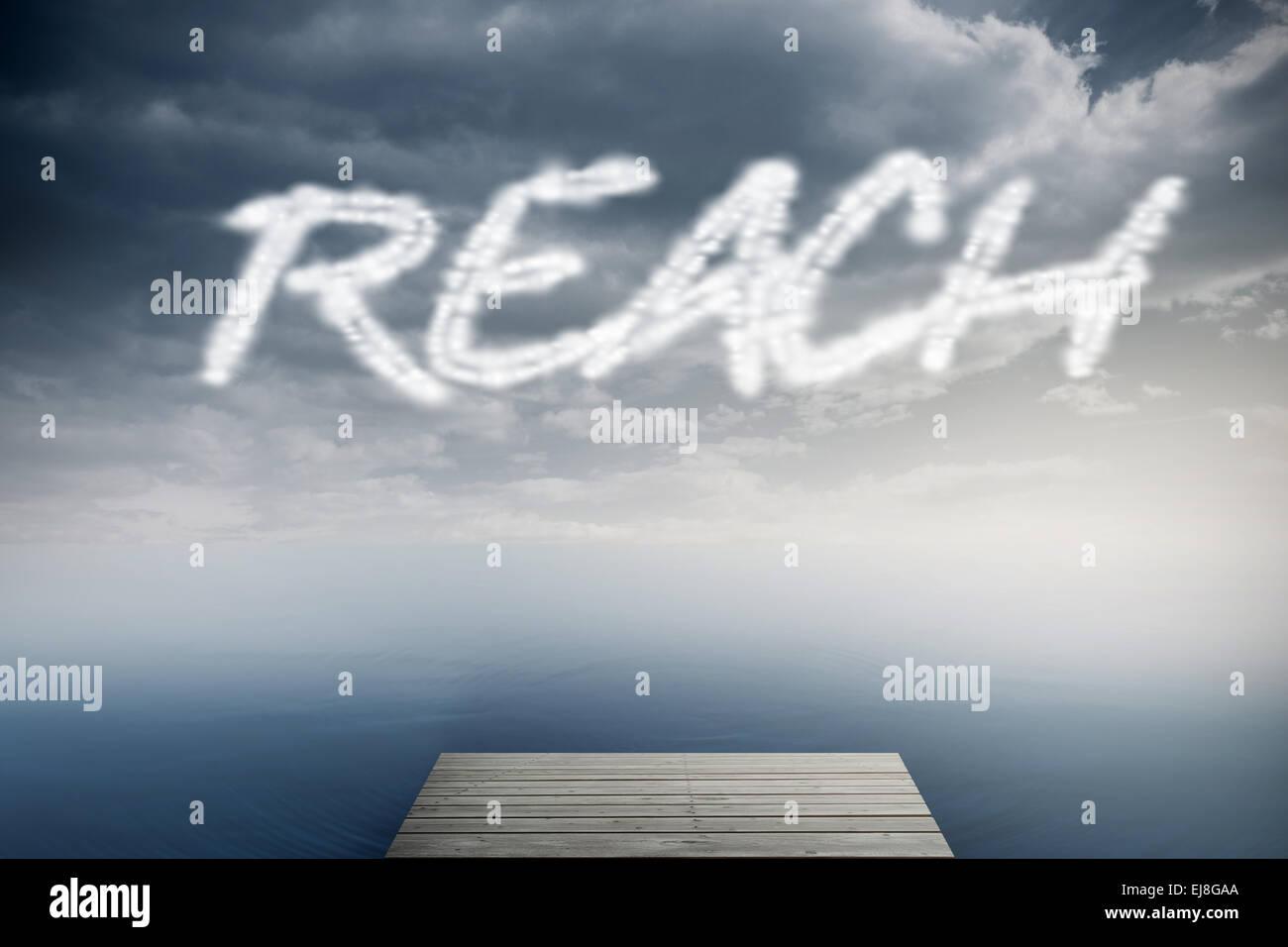 Reach against cloudy sky over ocean Stock Photo