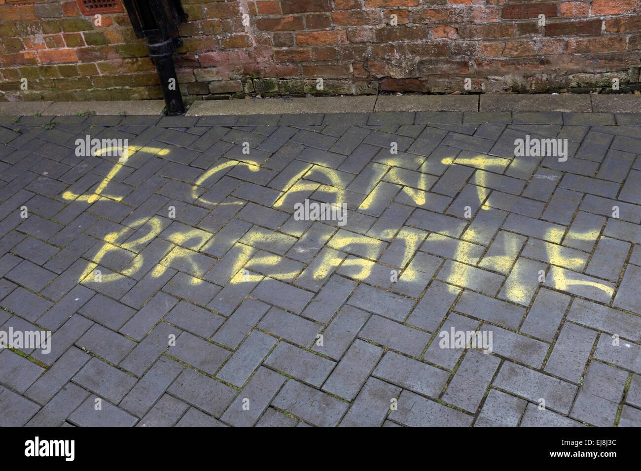 I Can't Breathe Graffiti - Stock Image