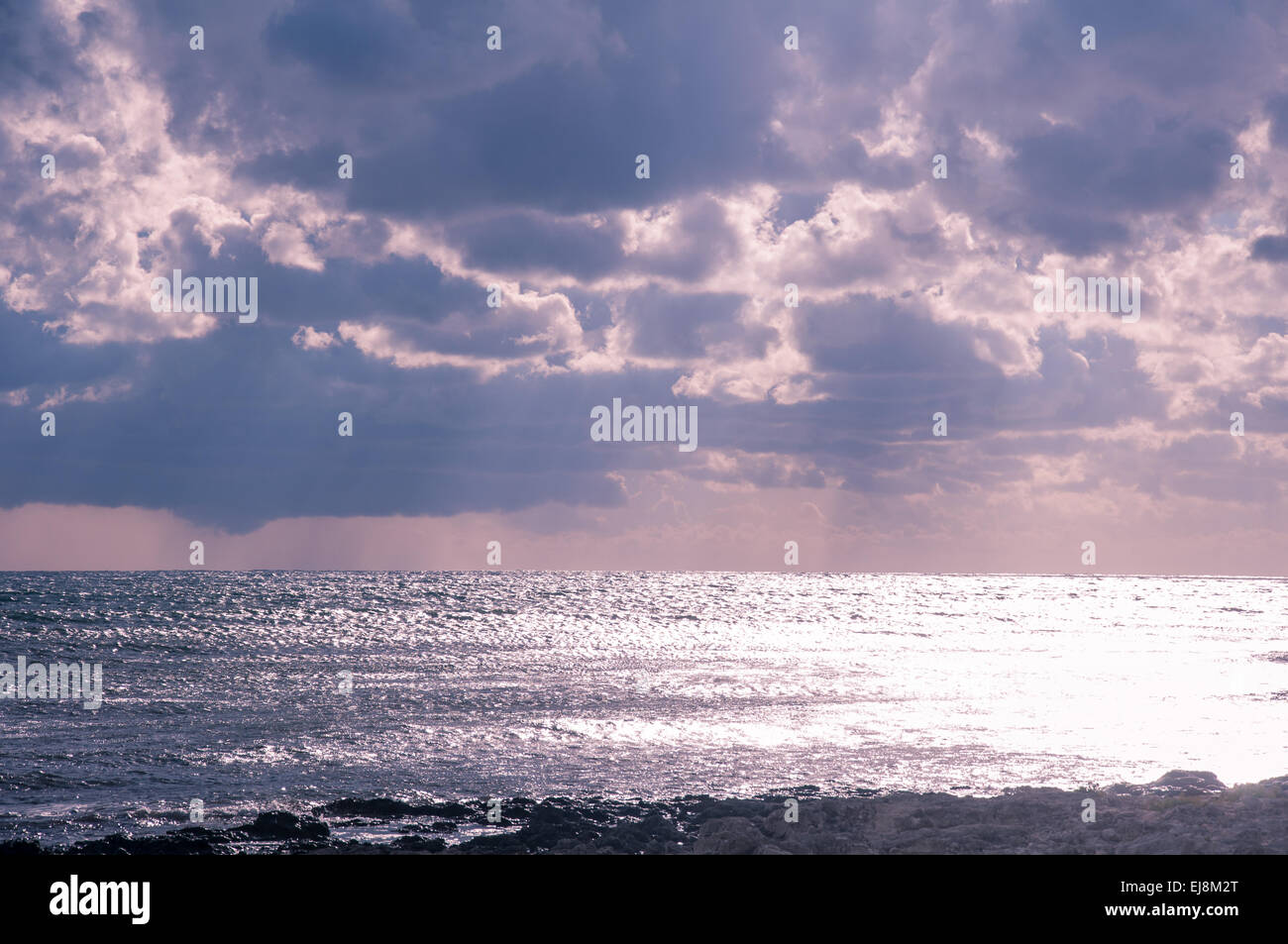 Glistening sea. - Stock Image