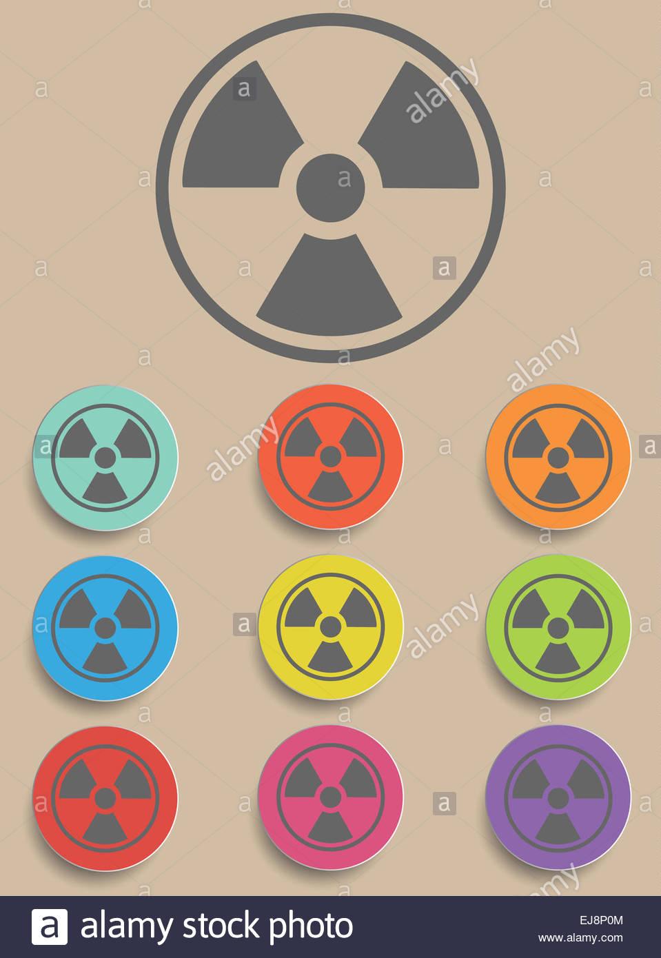 Radiation sign - Illustration Stock Photo