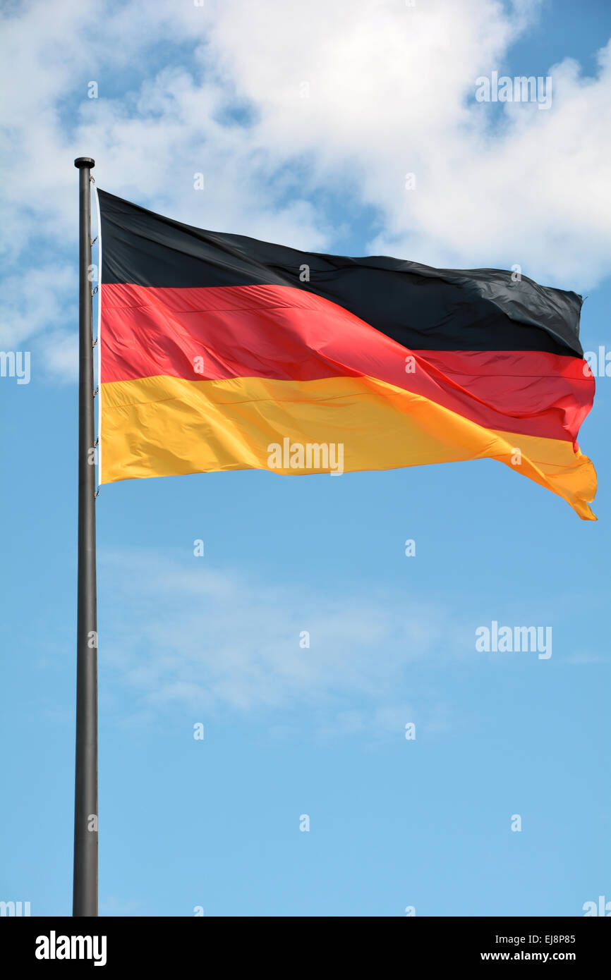 Flag of the Federal Republic of Germany - Stock Image