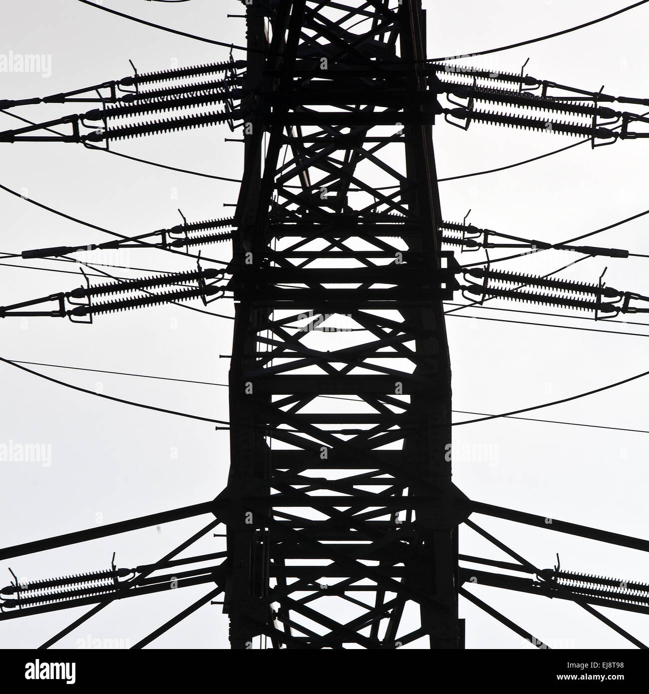 High voltage power pylons - Stock Image