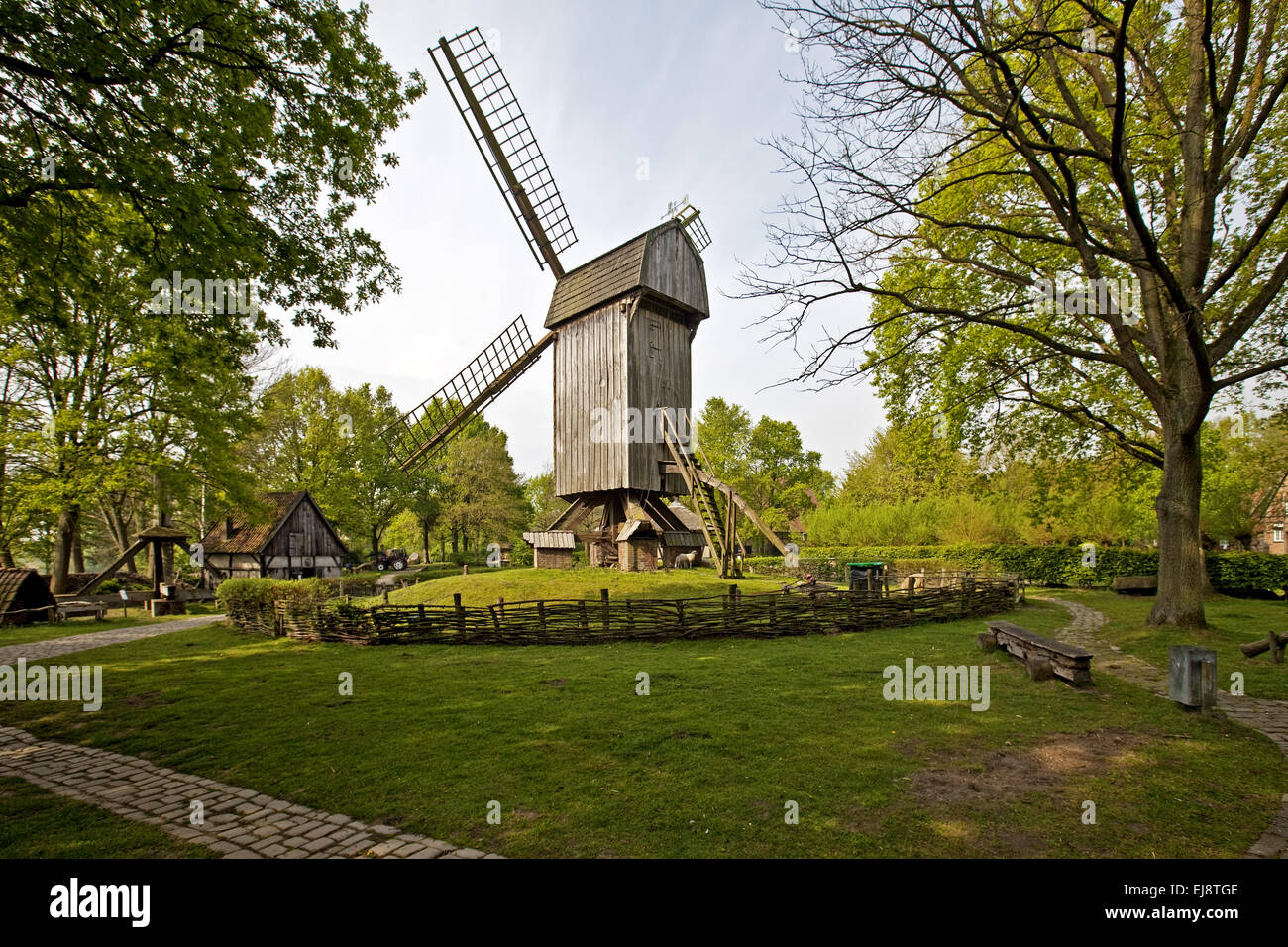 Muehlenhof Open Air Museum, Muenster, Germany - Stock Image