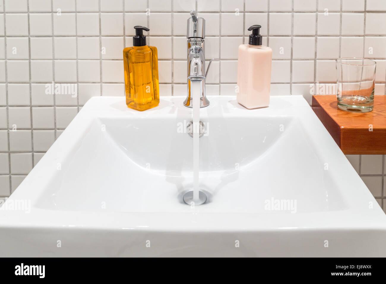 Hand wash basin - Stock Image