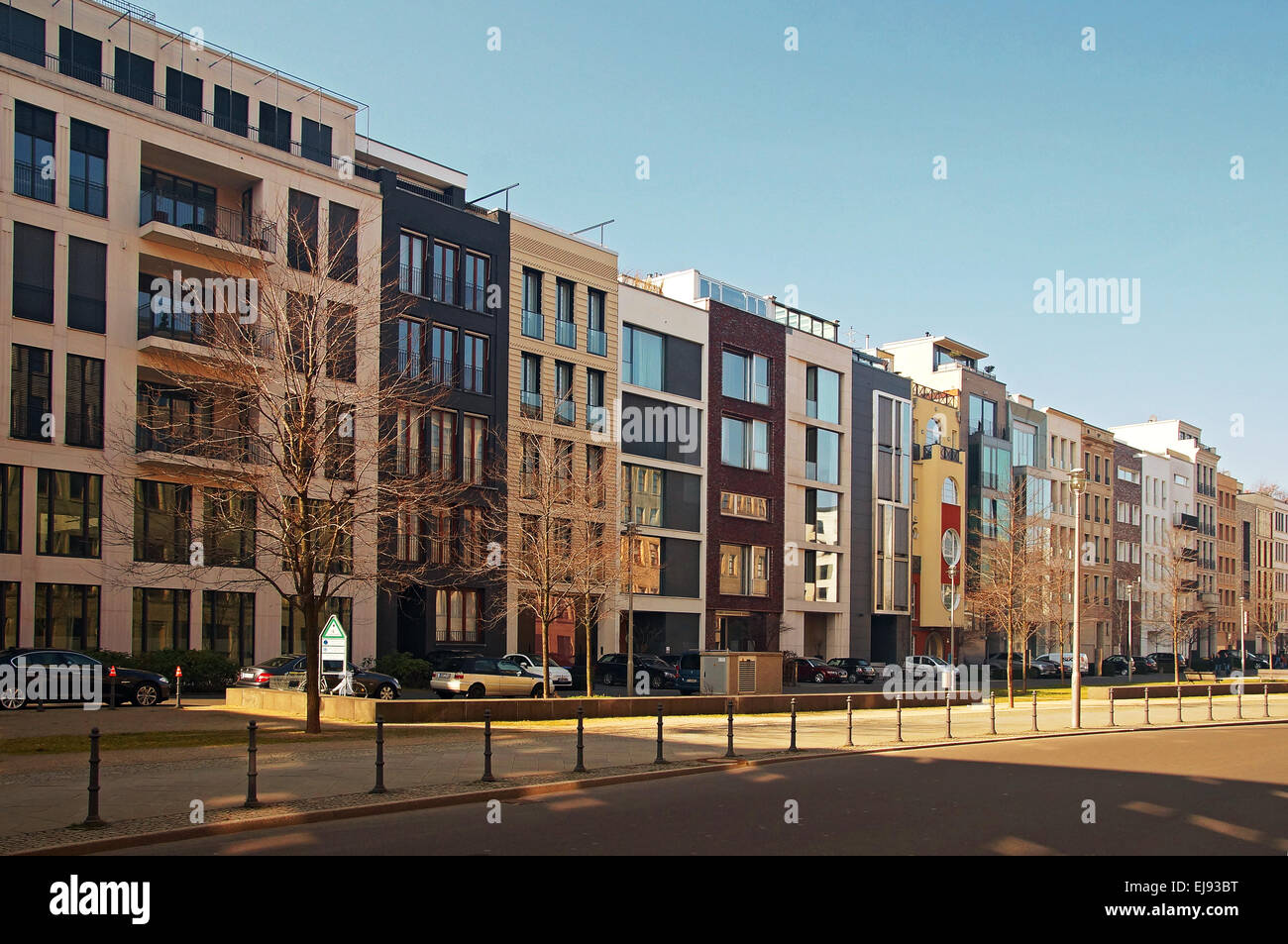 Modern Apartment Buildings Berlin Germany Stock Photo ...
