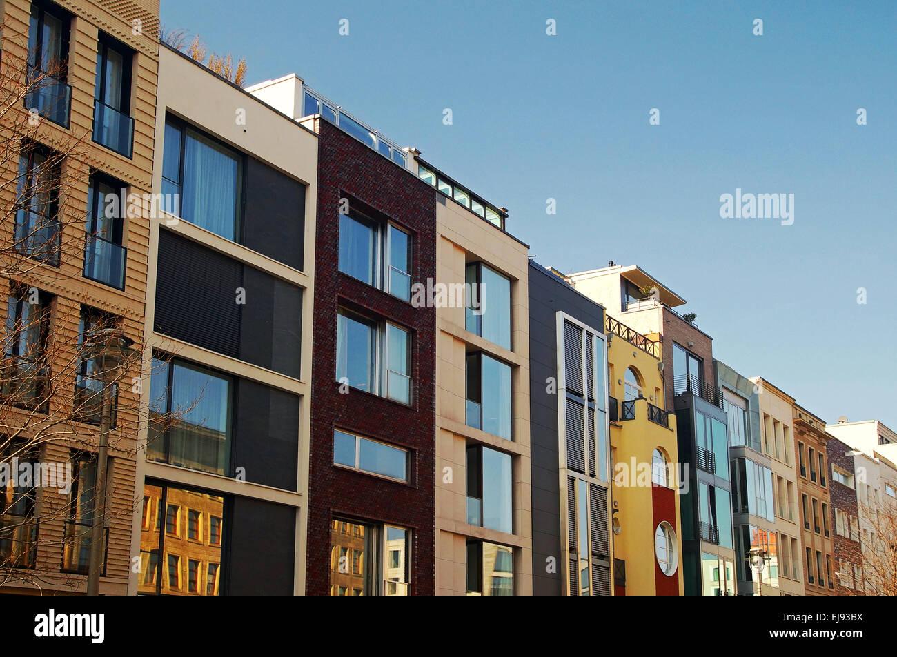Modern Apartment Buildings Berlin Germany Stock Photo