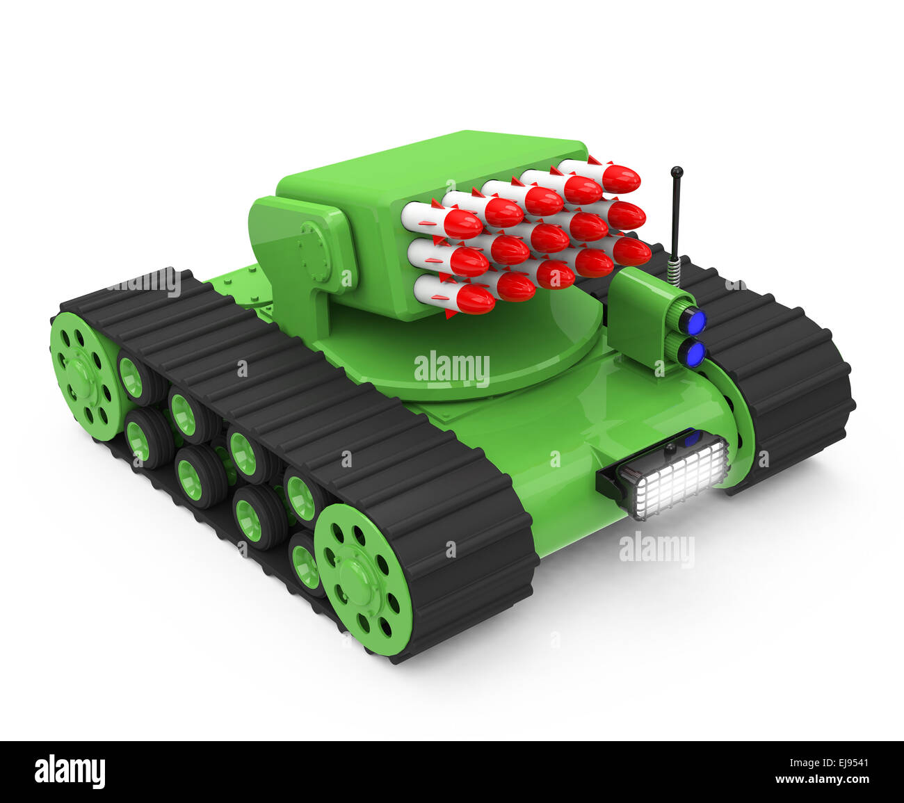 tank with rockets - Stock Image
