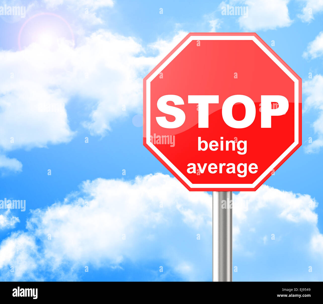 stop being average - Stock Image