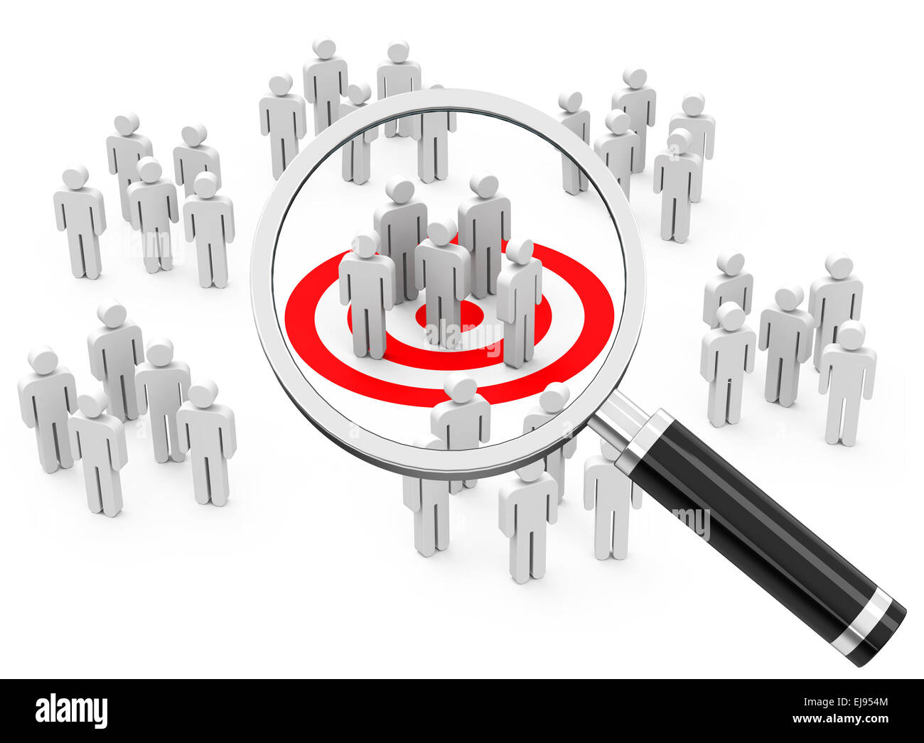 market and consumer analysis - Stock Image