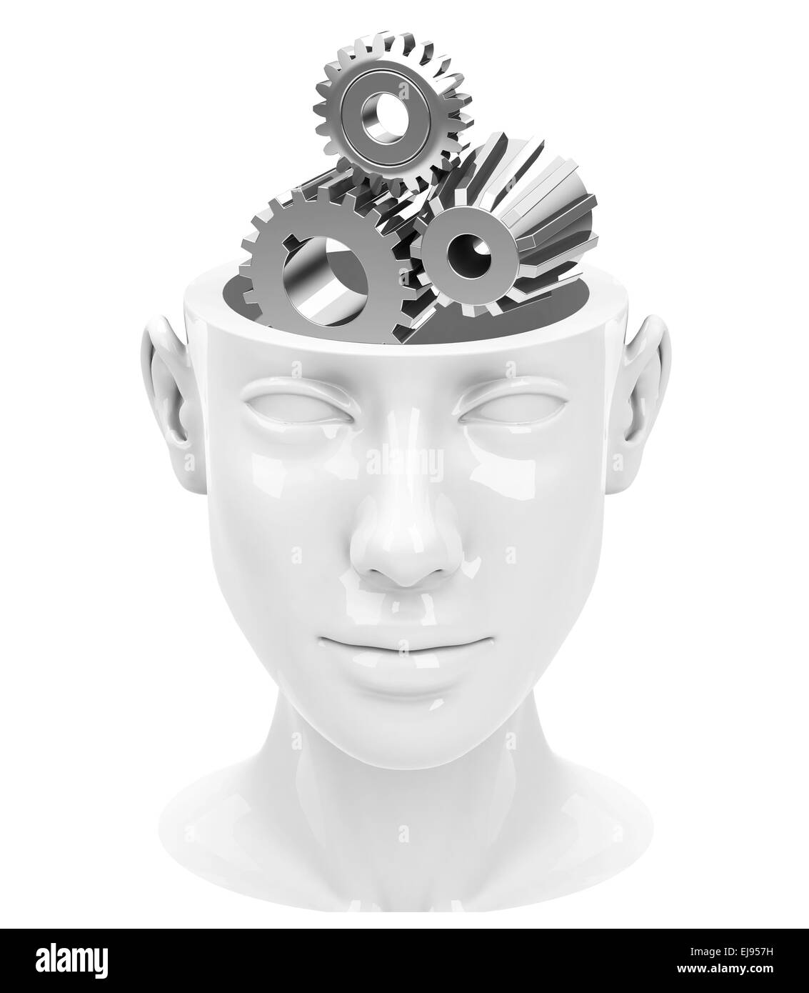 the brain gear - Stock Image