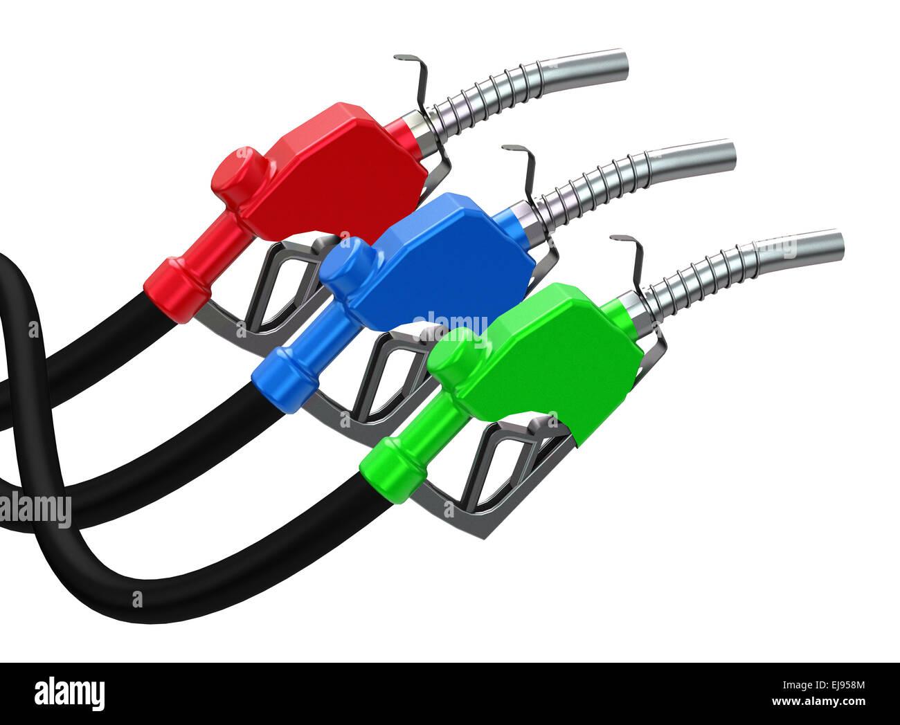 the fuel nozzles Stock Photo