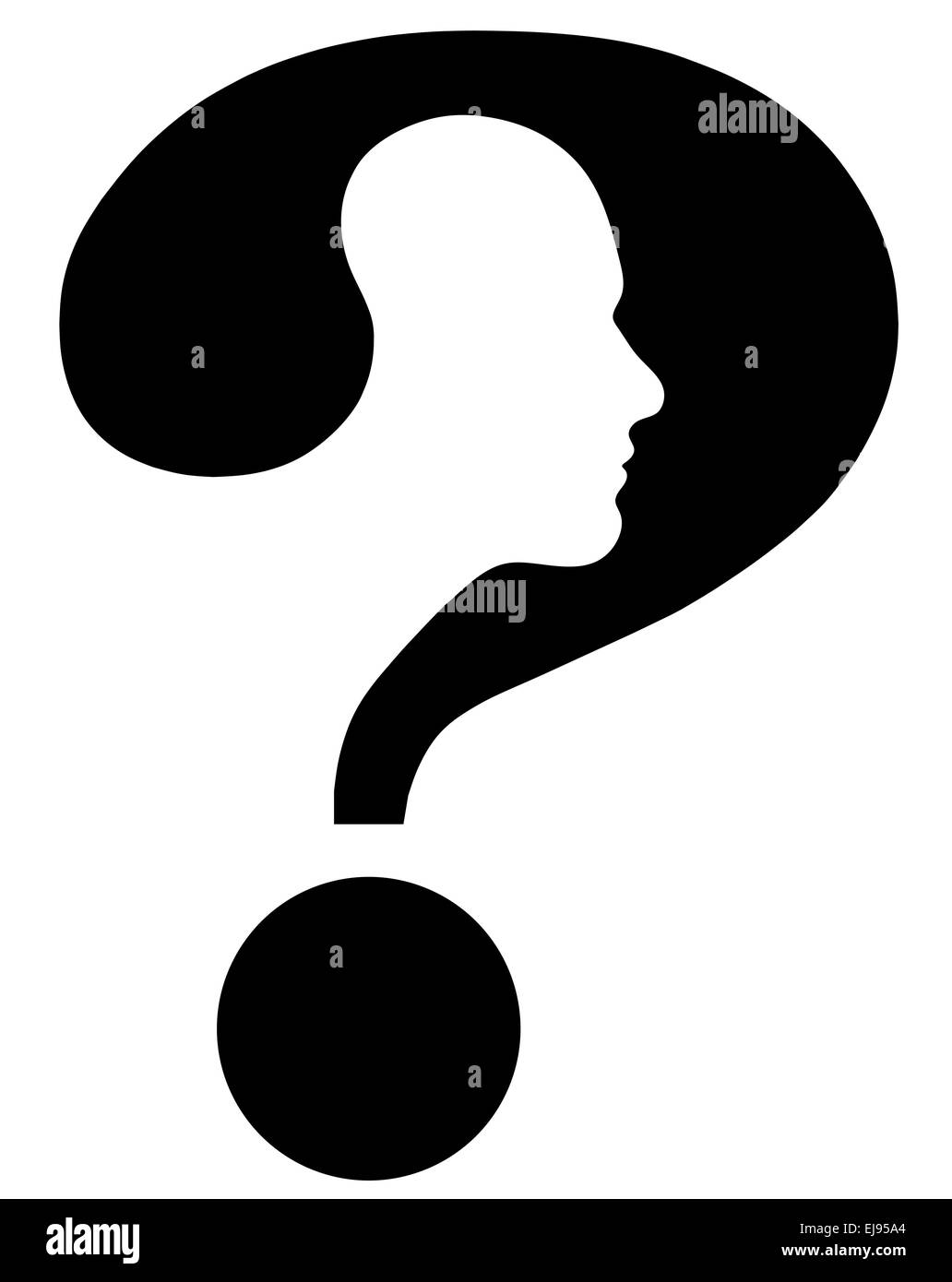 the question mark head - Stock Image