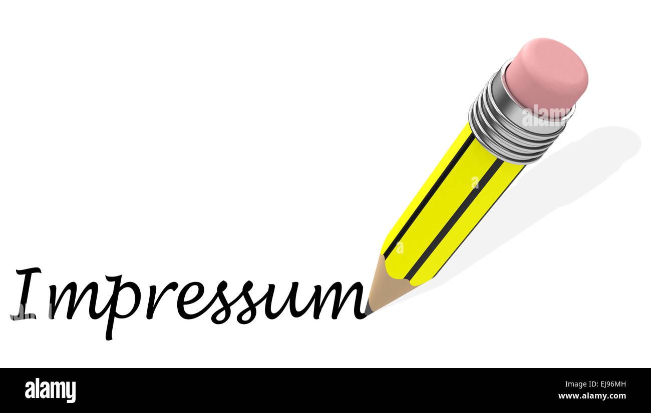 the impressum - Stock Image