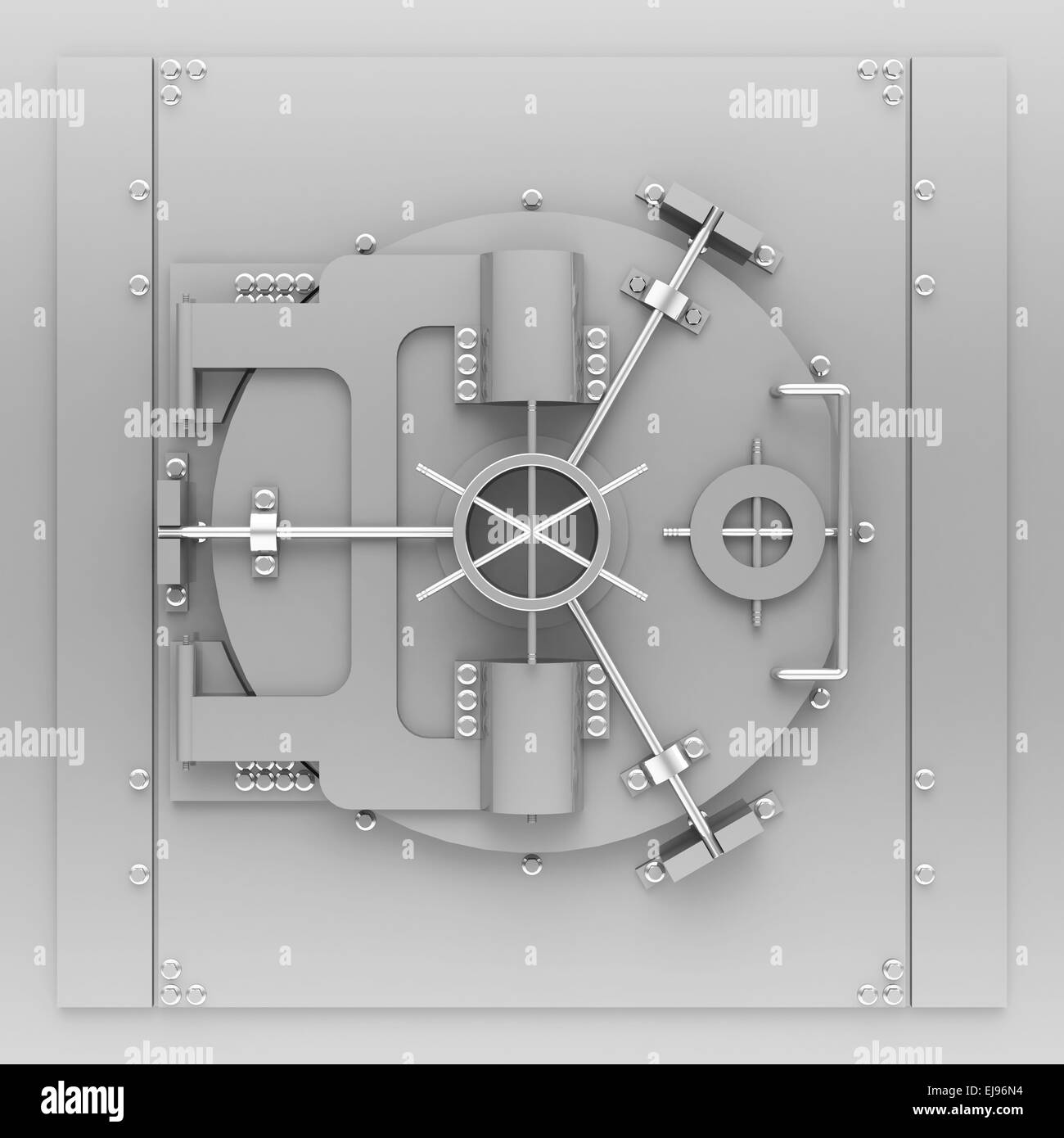 the bank vault - Stock Image