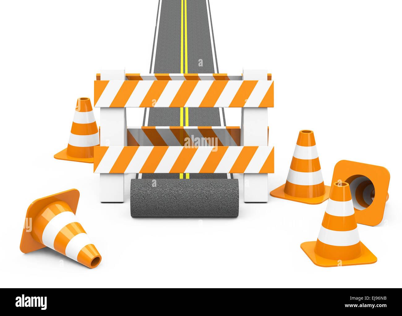 the roadblock - Stock Image