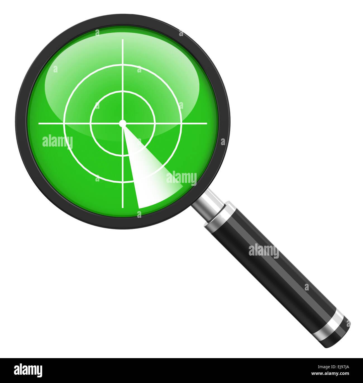 the radar - Stock Image