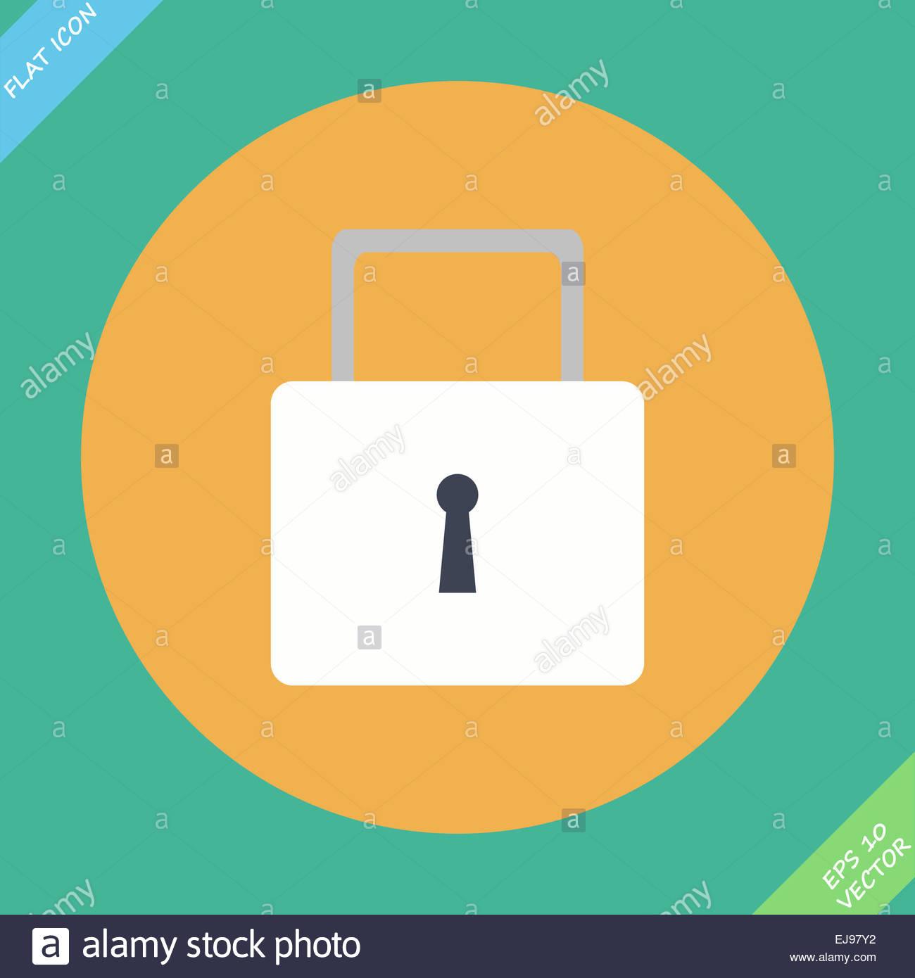 lock icon -  icon - Stock Image