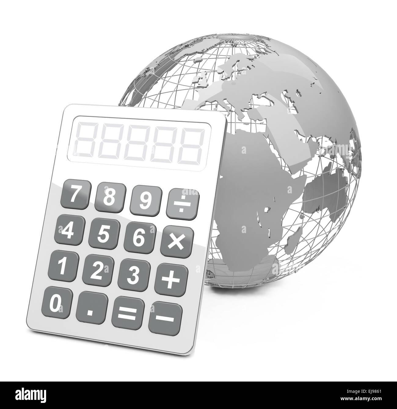 global calculation - Stock Image