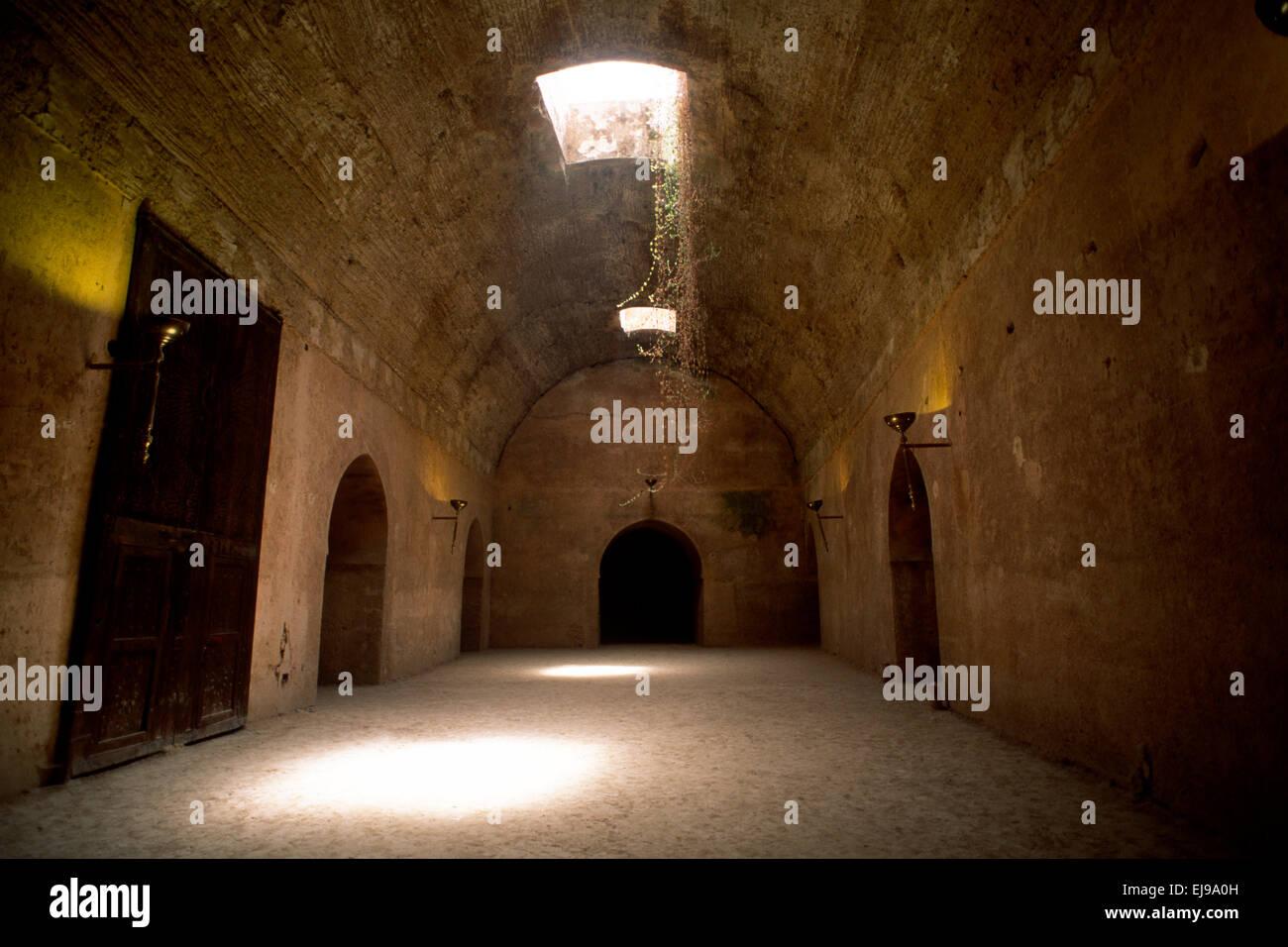 morocco, meknès, dar el ma, palace of the water, heri es souani, ancient barn - Stock Image