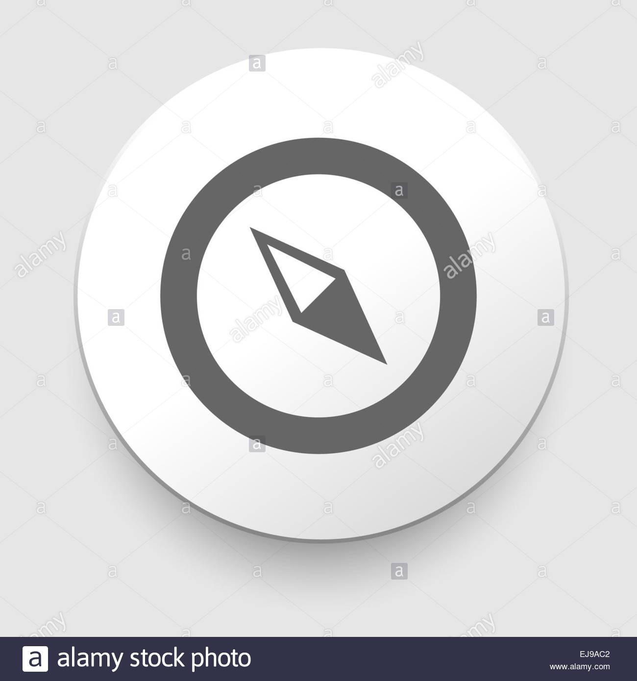 Compass  Icon. navigation - Stock Image