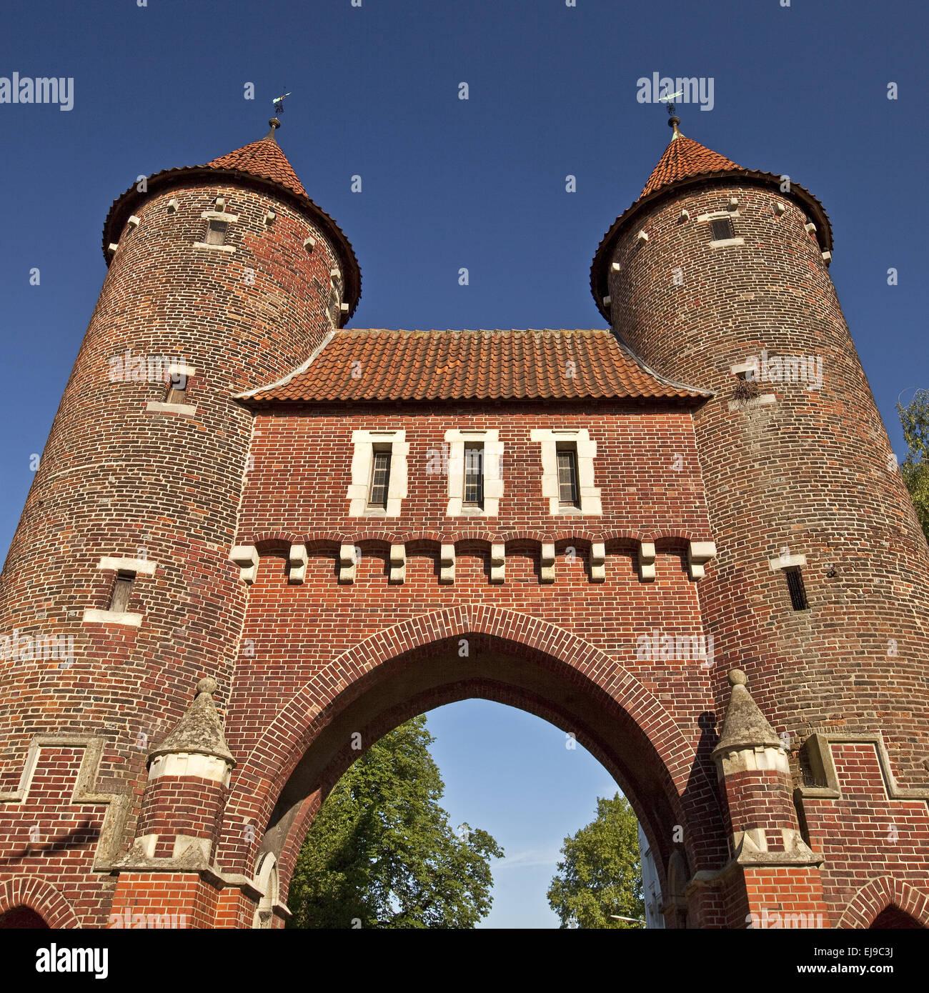 Luedinghauser gate, Duelmen, Germany - Stock Image