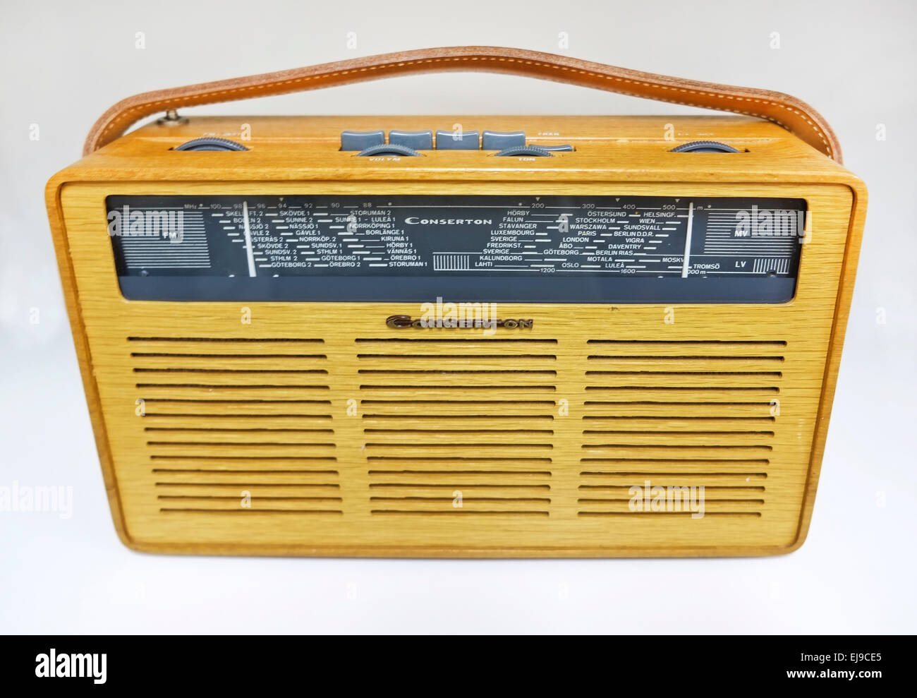 old radio conserton - Stock Image