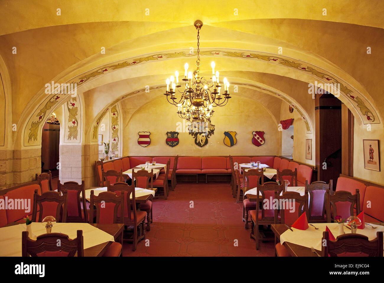 Restaurant Burg Huelshoff, Havixbeck, Germany - Stock Image