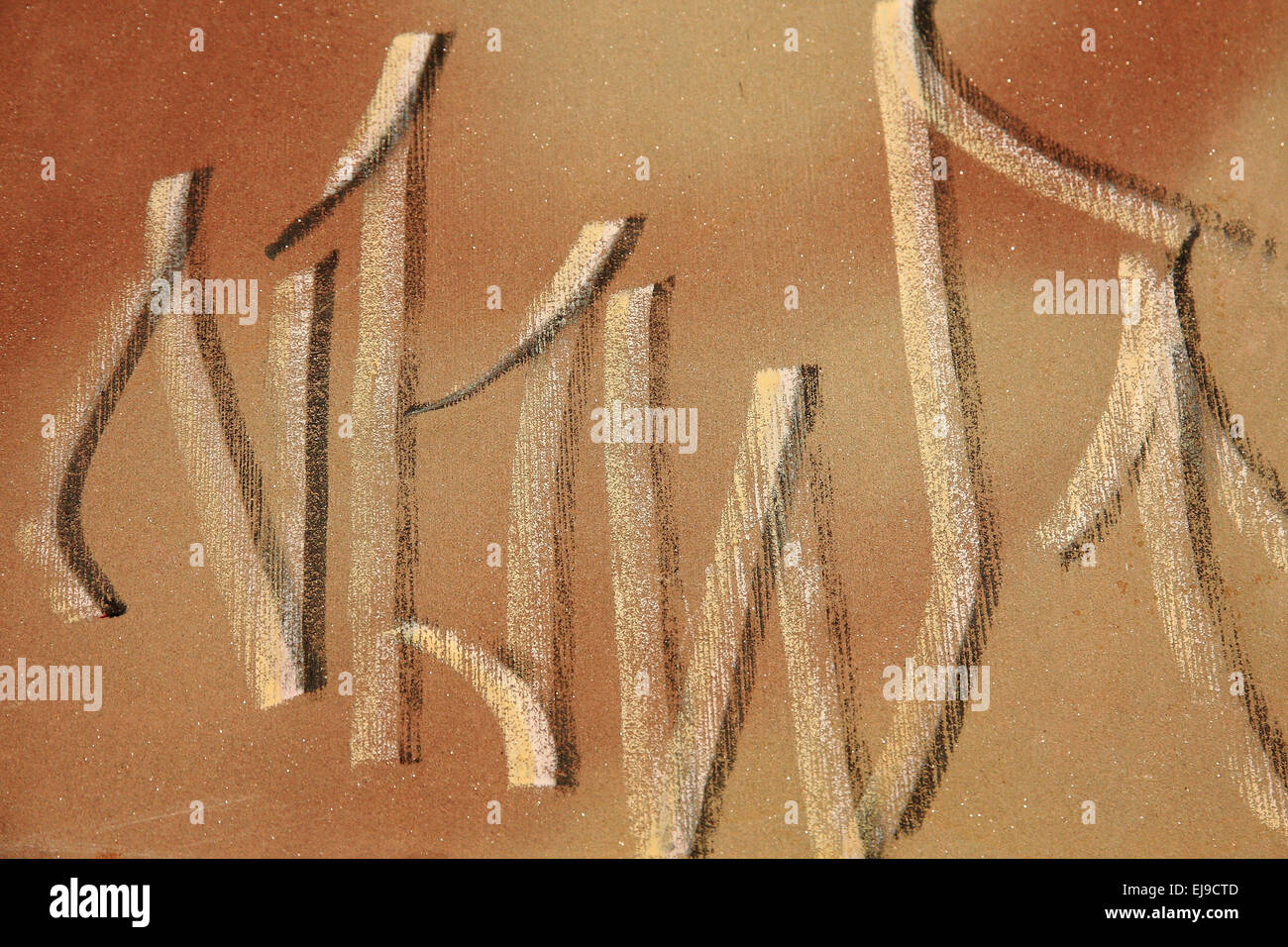 Graffito brown tones - Stock Image