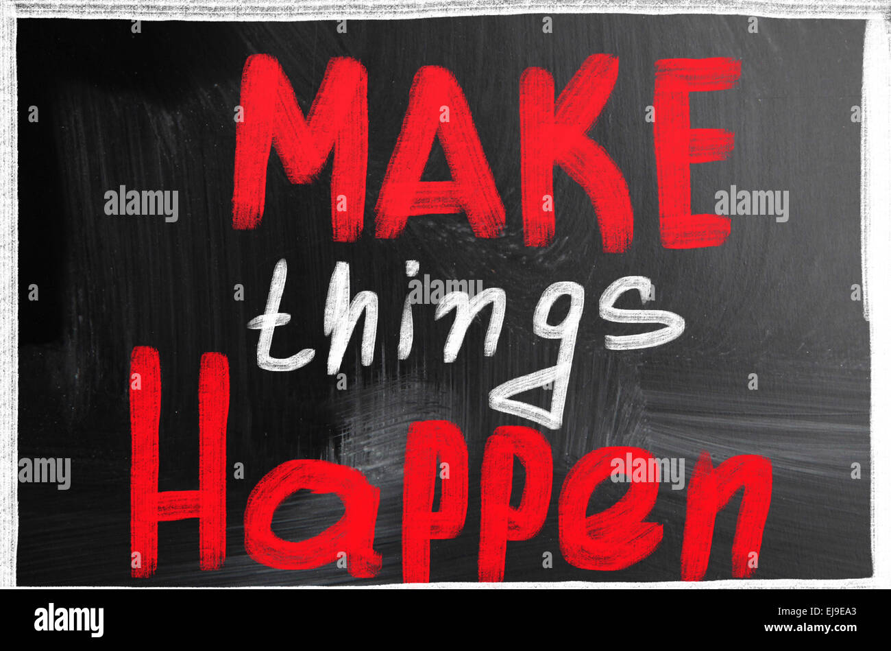 make things happen - Stock Image