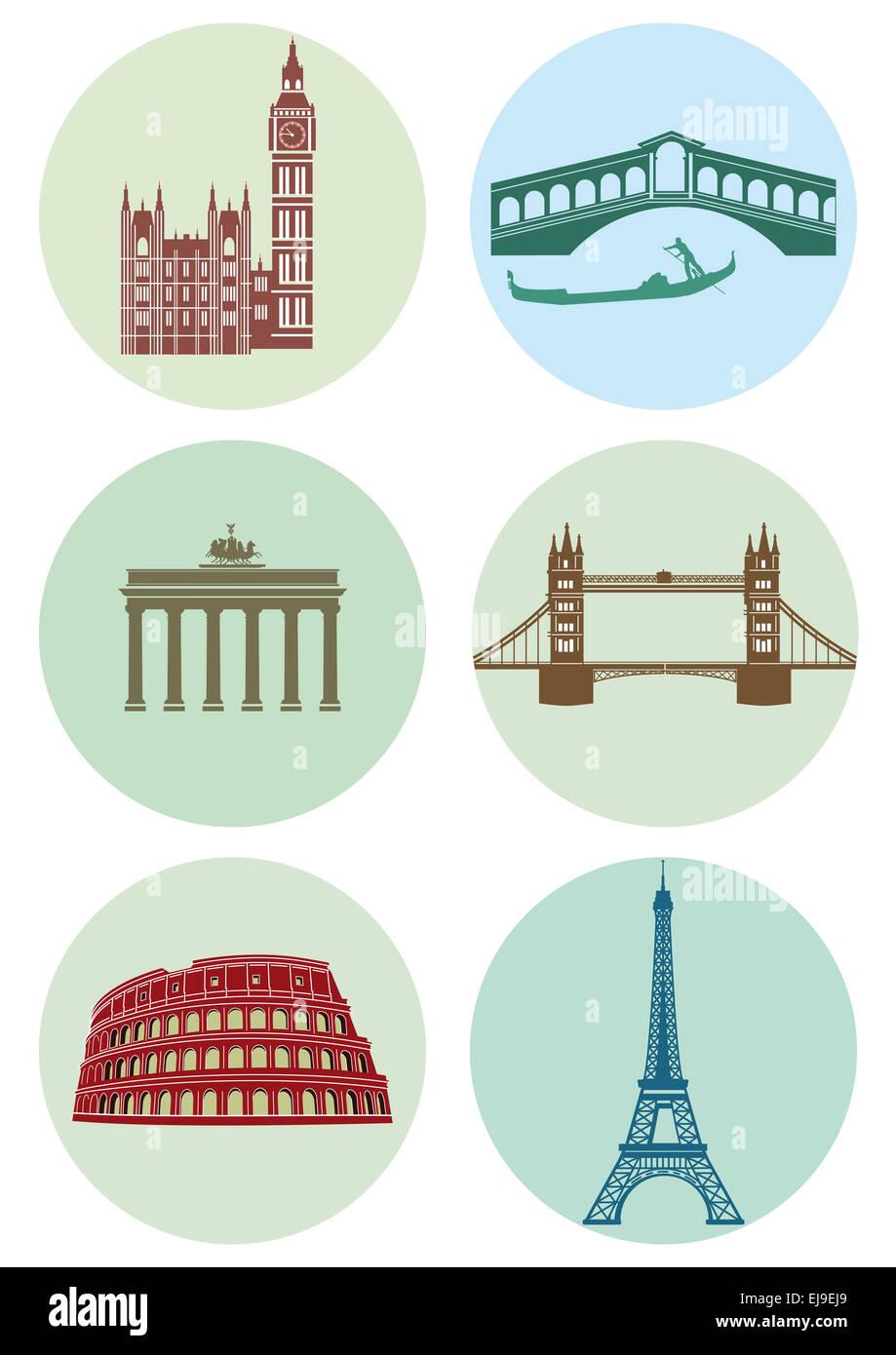European capitals - Stock Image