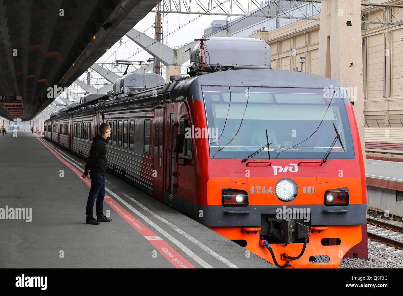 Local Train in Saint Petersburg - Stock Image