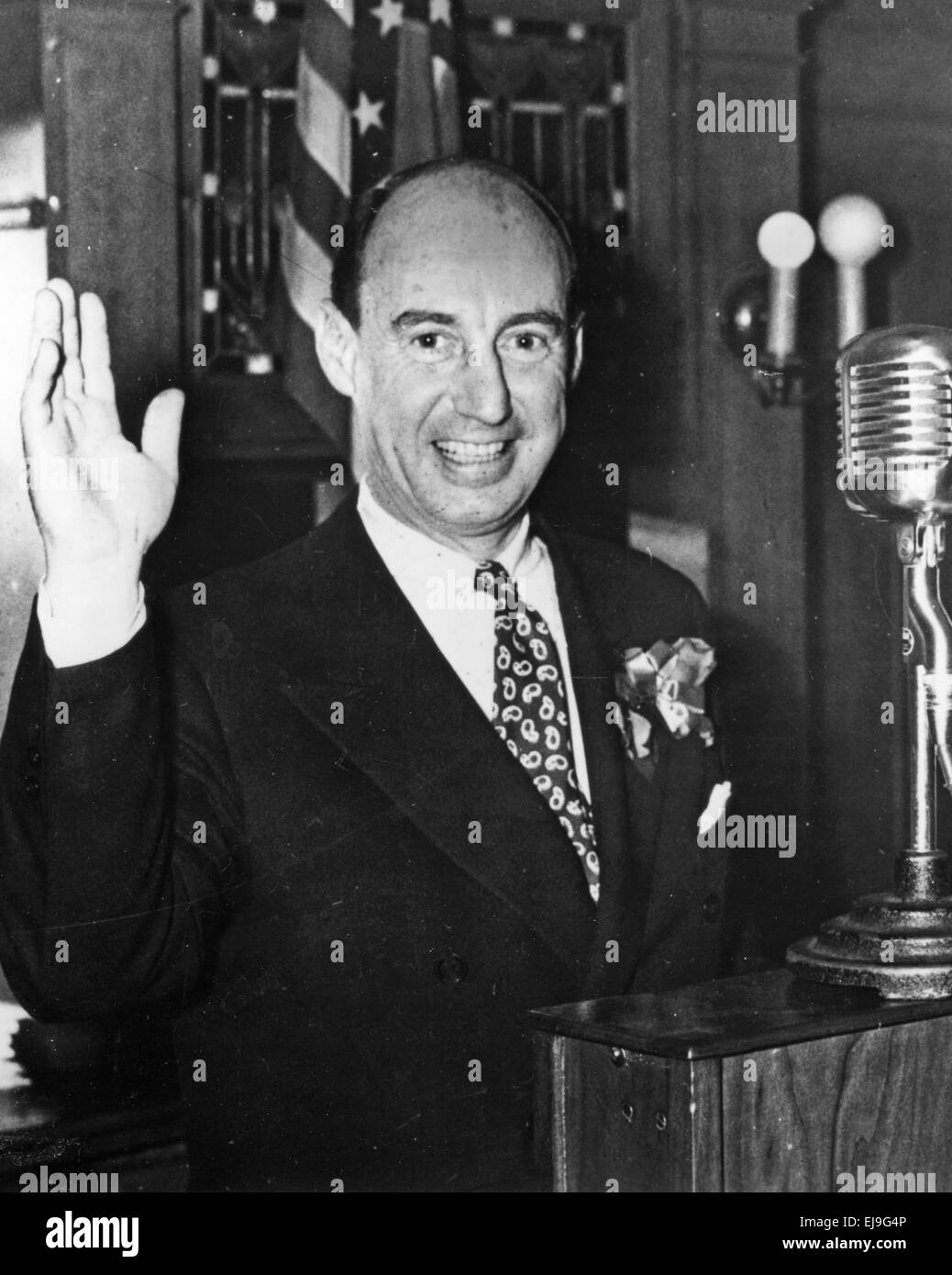 ADLAI STEVENSON III   American Democratic politician about 1980 - Stock Image