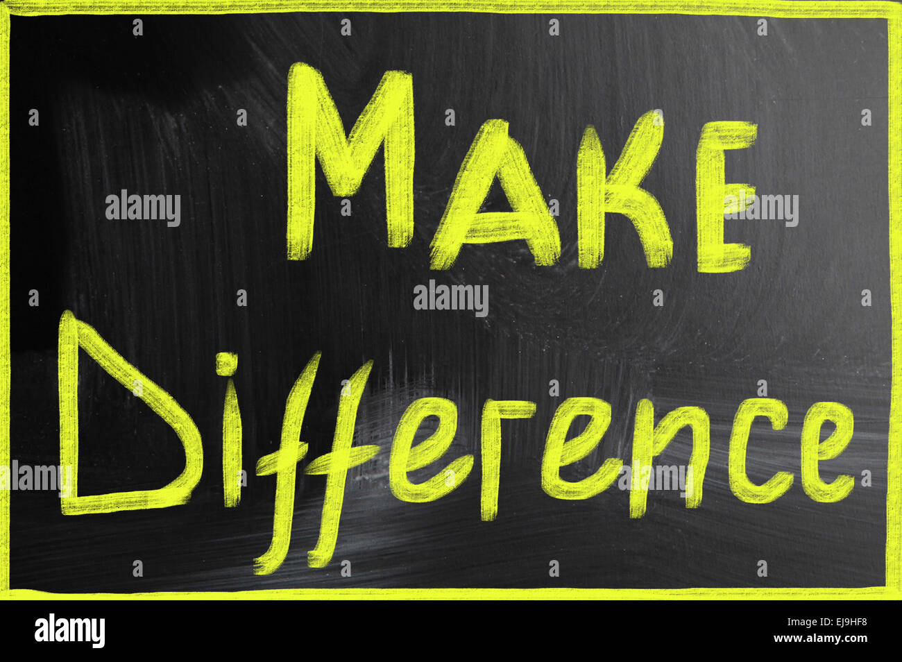 make difference - Stock Image